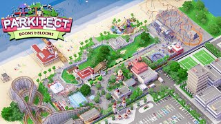 NEW - ULTIMATE ROLLER COASTER Park EVER BUILT | Parkitect New Booms & Blooms DLC Gameplay