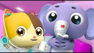 Kitten Doctor in Hospital   Doctor Cartoon   Kids Cartoon   Nursery Rhymes   Baby Songs   BabyBus