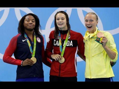 Simone Manuel Historic Olympic Gold Win 2016 Olympics