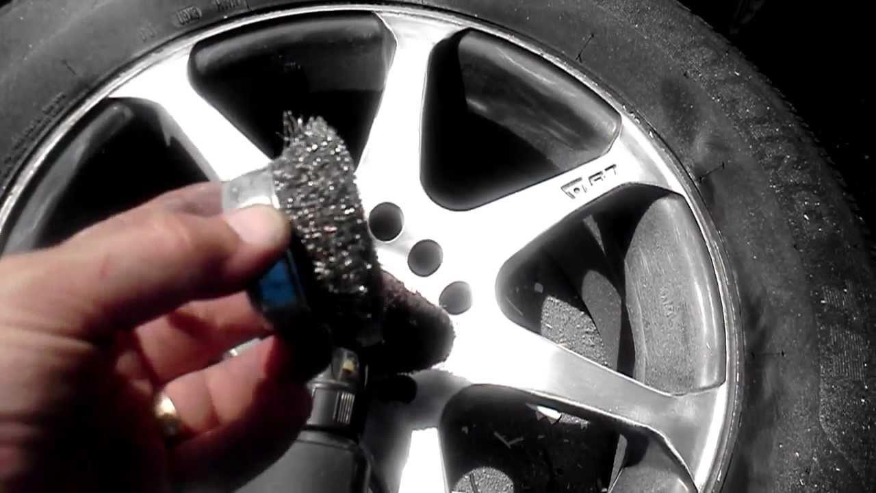"""How to Paint rims with Rustoleum"" wheel paint part 1 ..."