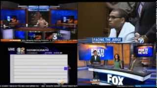 March 17 2014 Earthquake - Four TV stations reactions St. Patricks Day