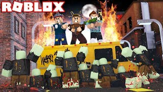 YOUTUBERS VS ZOMBIE APOCALYPSE IN ROBLOX! (Roblox BLOOD MOON TYCOON)