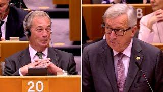 Juncker vs. Farage: The final battle