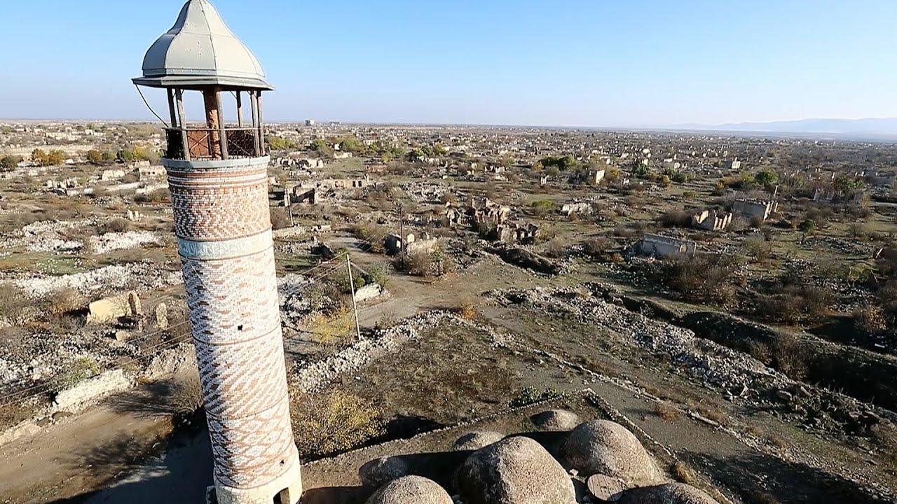 Карабах: Агдам вернулся к Азербайджану в разрушенном состоянии