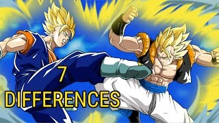 7 Differences Between Gogeta And Vegito