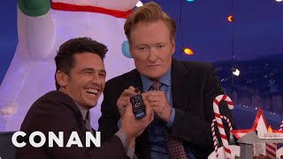 "James Franco Answers ""The Disaster Artist"" Phone Number  - CONAN on TBS"