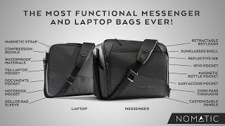 The NOMATIC Messenger and Laptop Bags.
