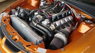 Twin turbo Holden LS Ute struggles for grip