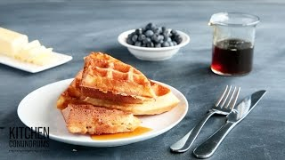 How to Make Crispy-Fluffy Waffles - Kitchen Conundrums with Thomas Joseph
