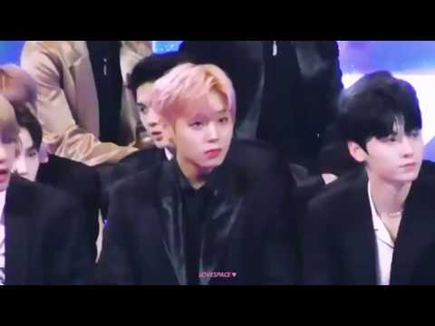 Wanna One Jihoon & BTS V sitting beside each other