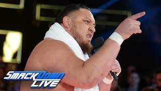 Samoa Joe ruins Jeff Hardy's 20th anniversary celebration: SmackDown LIVE, Nov. 27, 2018