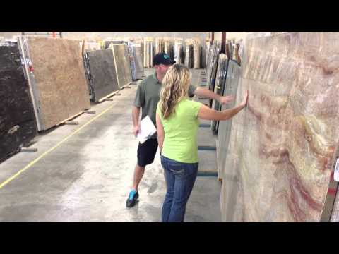 Homeowner slab selection - what to expect when you visit Pacific Shore Stones