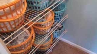 Nursery Closet Organization: How to organize a baby's closet