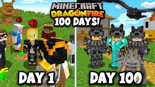 I Spent 100 Days in DRAGON FIRE Minecraft with FRIENDS! This is what happened...