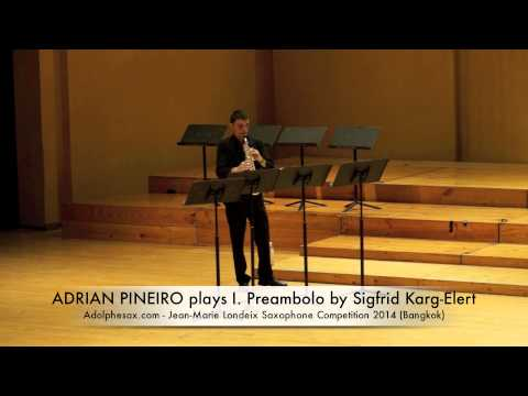 ADRIAN PIÑEIRO plays I Preambolo by Sigfrid Karg Elert