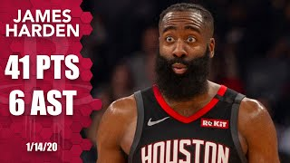 James Harden notches his 5th straight game with 40+ points vs. Grizzlies | 2019-20 NBA Highlights