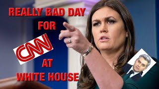 Ouch Ouch Ouch!  CNN Schooled By Sarah Sanders During Daily Briefing... Poor Jim