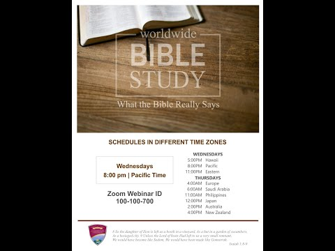 [2020.01.01] Worldwide Bible Study - Bro. Rydean Daniel