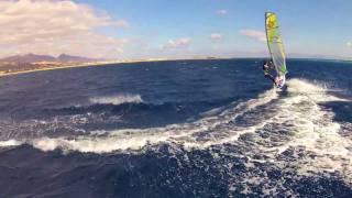 Recorrido de windsurf
