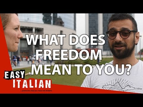 What does freedom mean to you? | Easy Italian photo