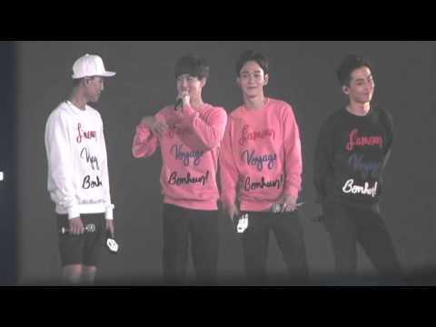 20151010 EXO-LOVE Concert in Dome 엔딩 토크 + 엔콜