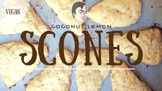 Coconut Lemon Scones