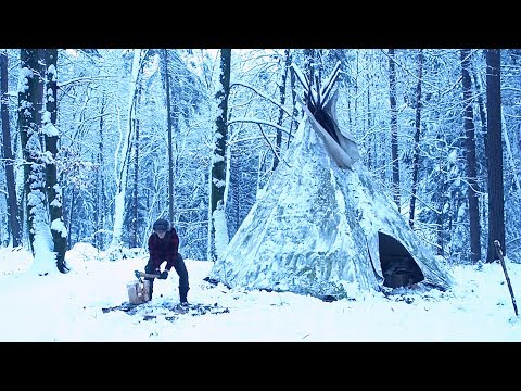 Solo Winter Overnighter In A Tepee