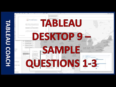 Tableau Certification Sample Questions