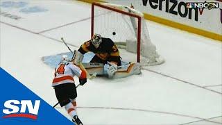 Flyers' Sean Couturier Scores Last Second Overtime Goal Against Penguins