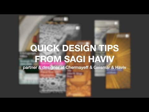 3 Quick Design Tips from Sagi Haviv