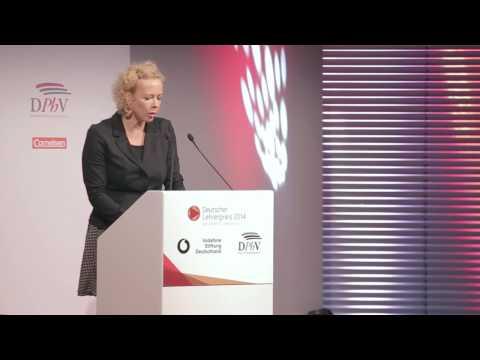 Katja Riemann beim Deutschen Lehrerpreis 2014