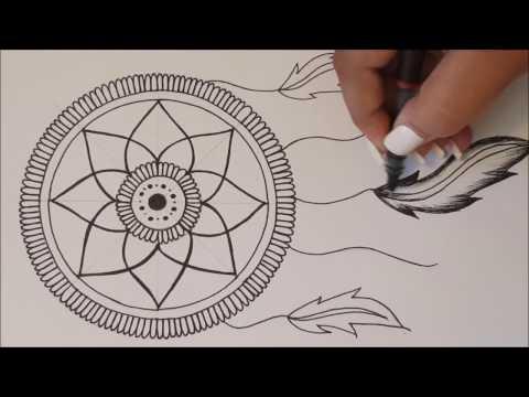 Como Dibujar Atrapa Sueños Dreamcatcher Videomovilescom