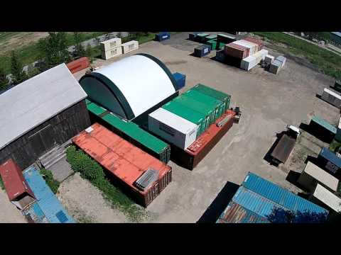 Storage Onsite 50' x 40' Atlas Building Series Drone Video