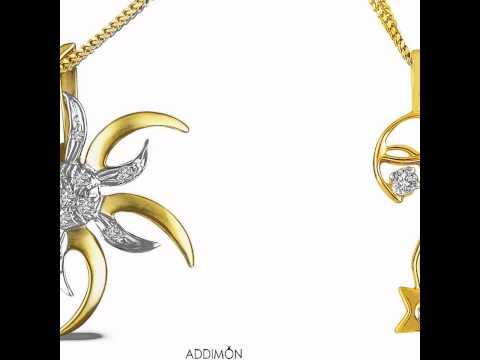 Attractive love diamond pendant