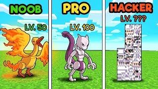 Minecraft - PIXELMON LEGENDARY CHALLENGE! (NOOB vs PRO vs HACKER)