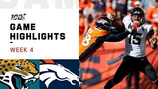 Jaguars vs. Broncos Week 4 Highlights   NFL 2019