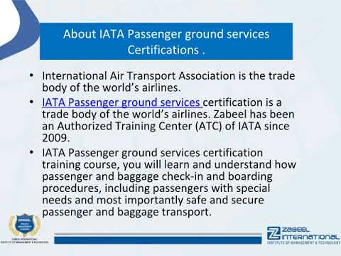 What is ground handling services at the airport? IATA Passenger Ground Services