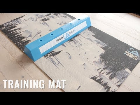 Snowboard Addiction Training Mat Product Video