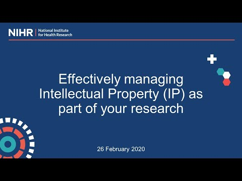 Effectively managing Intellectual Property as part of your research