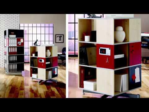 Bindertek Cube Carousel Shelving