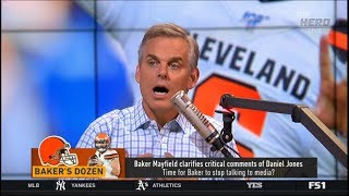 Colin APPALLED Baker Mayfield clarifies critical comments of Daniel Jones | THE HERD 8/21/2019