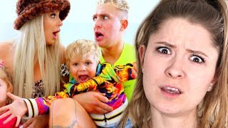 WE BECAME PARENTS FOR 24 HOURS (ft. daddy Jake Paul) - Jana Reaction