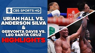 Highlights: Uriah Hall KO's Anderson Silva, Gervonta Davis KO's Leo Santa Cruz | CBS Sports HQ