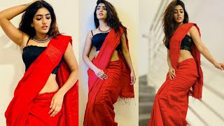 Tollywood actress Eesha Rebba looks gorgeous in her red co..