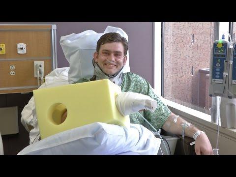 Kansas gunshot victim Ian Grillot provides an update from his hospital bed.