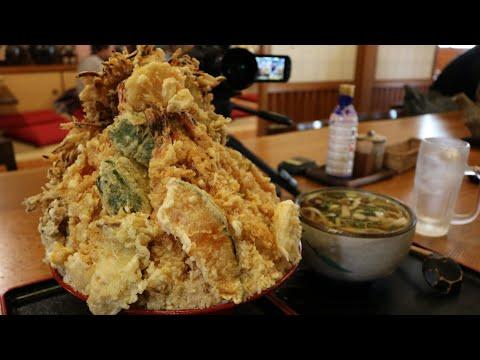 【大食い】5㎏特大海老天丼+山菜うどん大盛【デカ盛り】