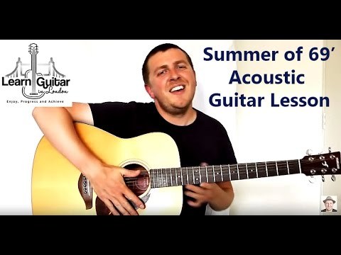Baixar Acoustic Guitar Tutorial - Summer Of 69 - Bryan Adams - Unplugged