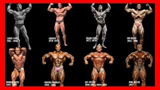 Mr. Olympia All Winners Compilation for all time [1965 - 2017] - Bodybuilding Motivation History