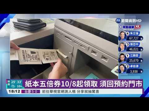 超商紙本五倍券預約 系統故障全恢復|華視新聞 20210925