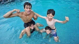 TWIN BOYS vs. TWIN BOYS SWIMMING COMPETITION!